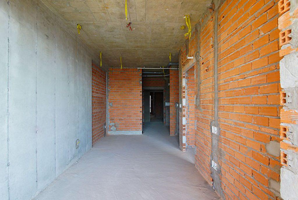 Hoàn thành xây tường căn hộ block Mercury và block Uranus